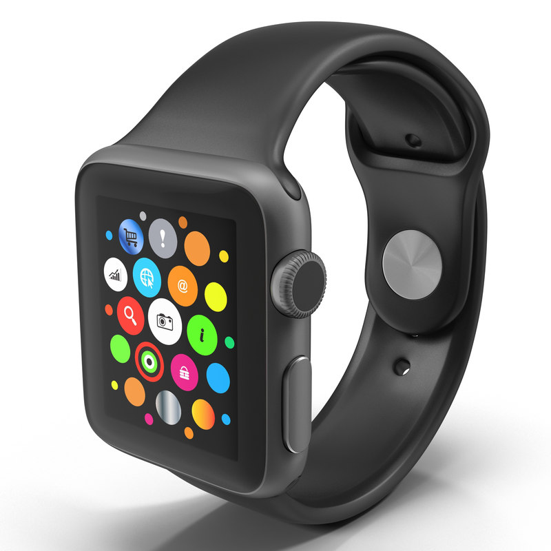 3d apple watch 38mm fluoroelastomer