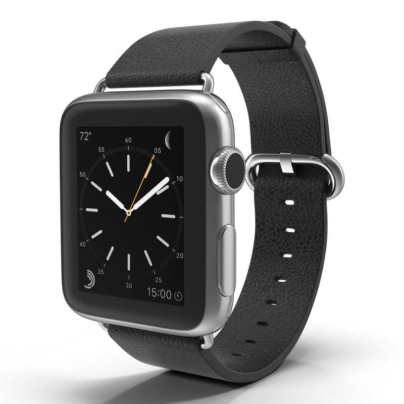 apple watch 38mm classic 3d model