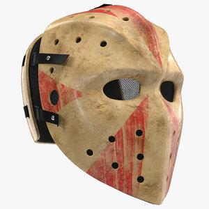 3d scary hockey mask model
