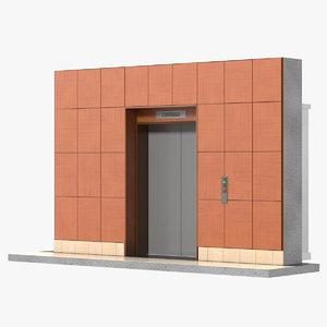 lift interior 2 3d model