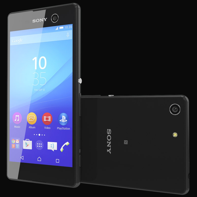 realistic sony xperia m5 3d model