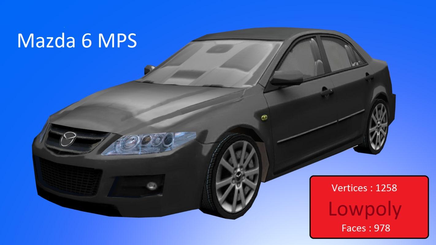 3d mazda 6 mps model