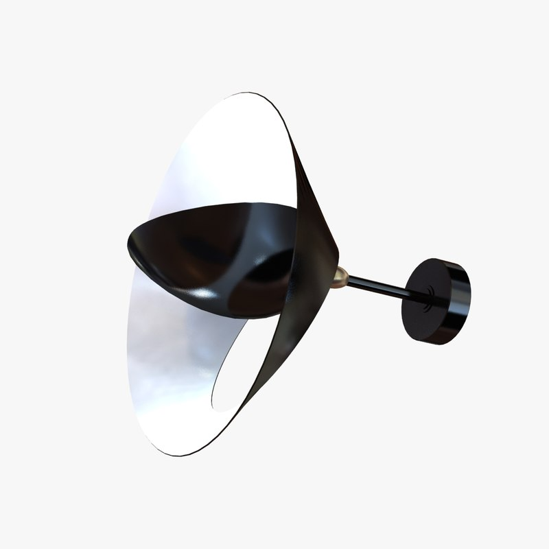 3d 3ds light saturne sconce serge