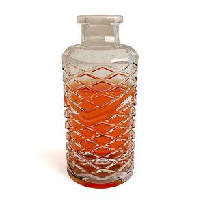 3d model bottle wisky