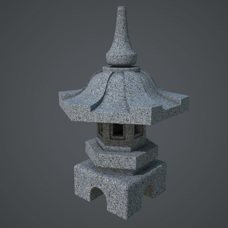 stone lantern 3d obj