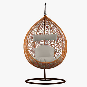 3ds max globe hanging chair
