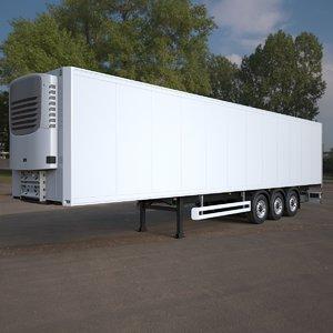 3ds max refrigerated semi trailer