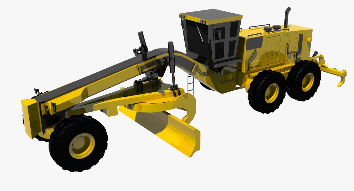 3d model cat motor grader