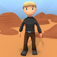 Low Poly Toon Male Character - Hand-Painted and Rigged