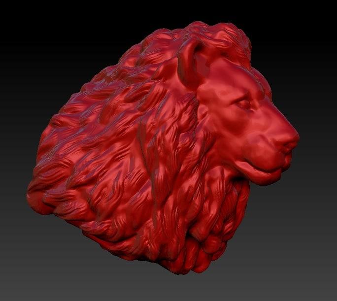 maya lion head