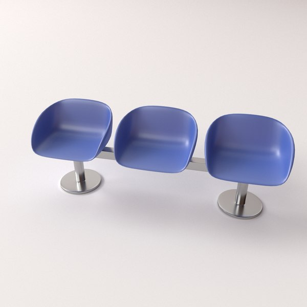3ds max waiting room benches