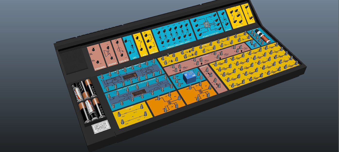 3d model 200 electronic project lab