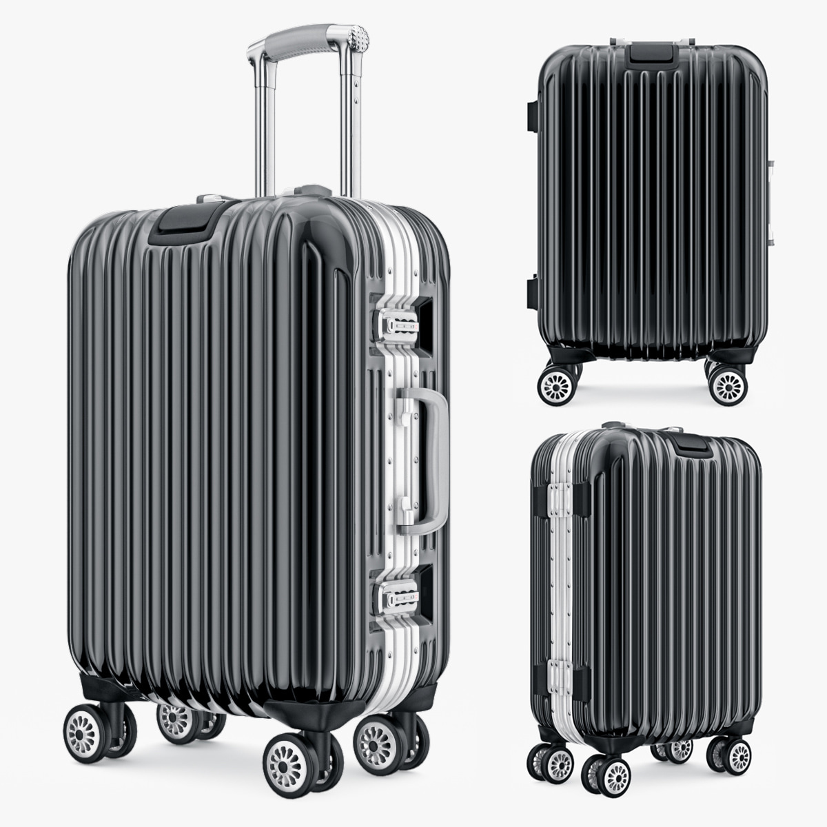 3d bag luggage travel kingtrip
