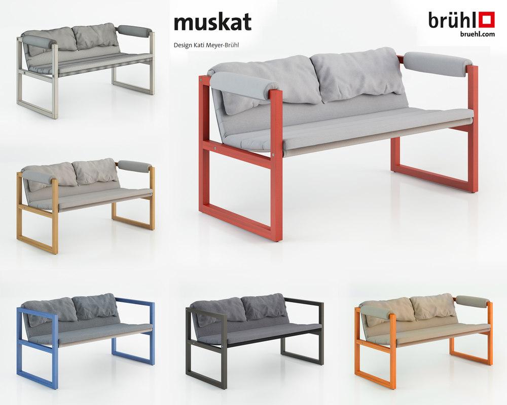 muskat sofa 3d model