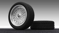 classic wheel 3d max