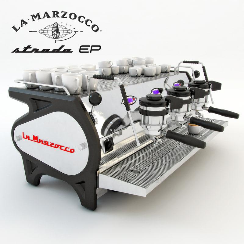 3ds max coffee machine lamarzocco strada