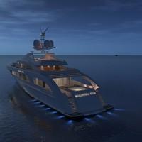 yacht galactica star 3d c4d