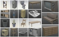 3d polys chair model
