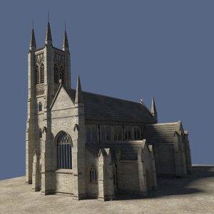 free 3ds model church