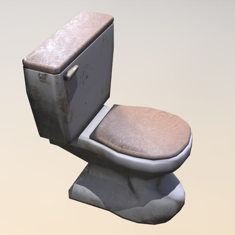old toilet 3d fbx