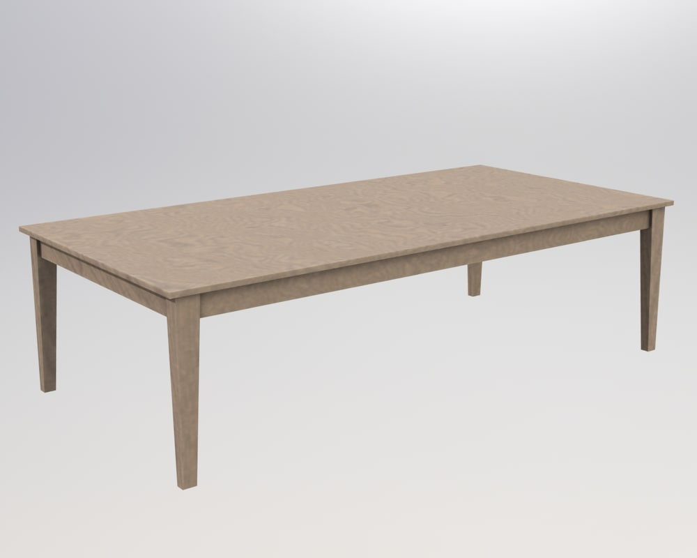 3d wooden coffee table