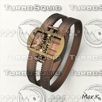 steampunk bracelet watch 3d model