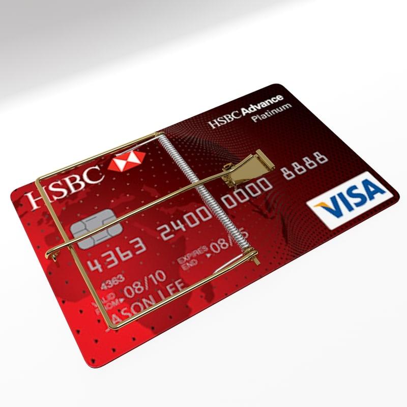 3ds Visa Credit Card