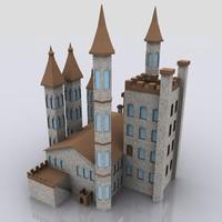 3d model of castle