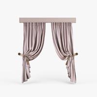 3d folded curtains