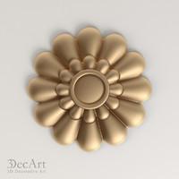 decorative rosette cnc 3d model