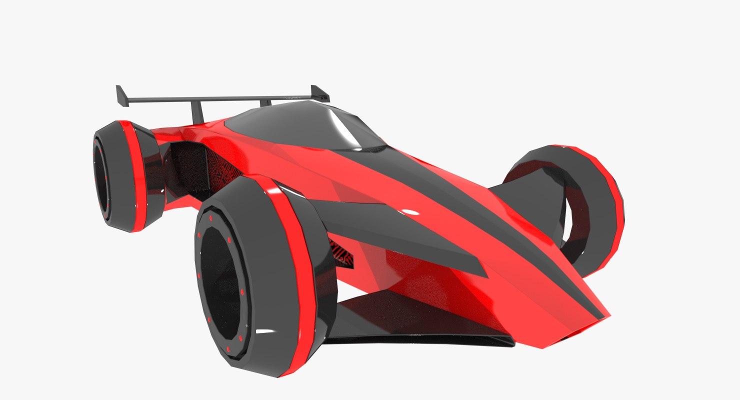 sci-fi car 3d model