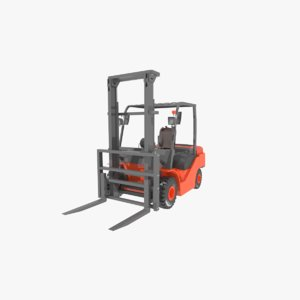 3d 3ds forklift industrial lift