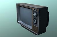 1980s crt tv 3d model