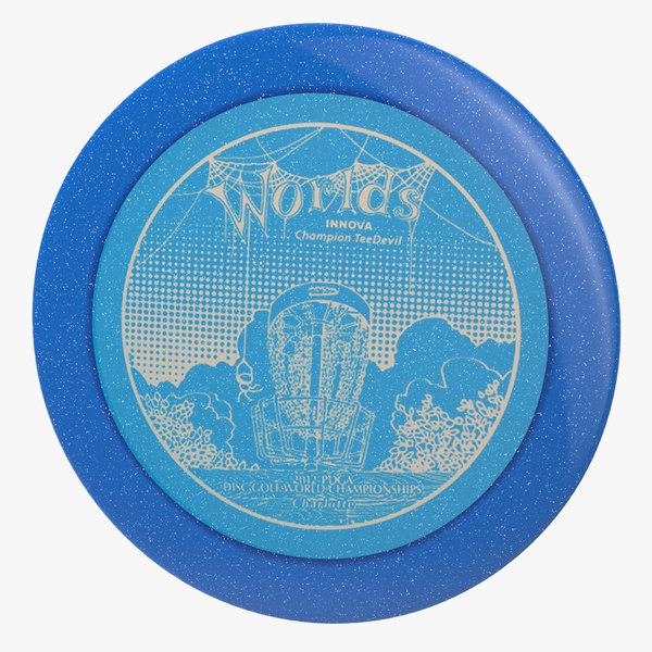 3d model frisbee innova metal flake
