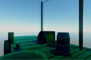 wooden pier set fbx