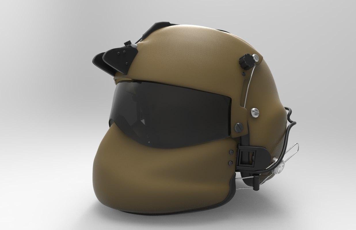 pilot helmet obj