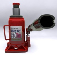 industrial jack hydraulic bottle 3d model