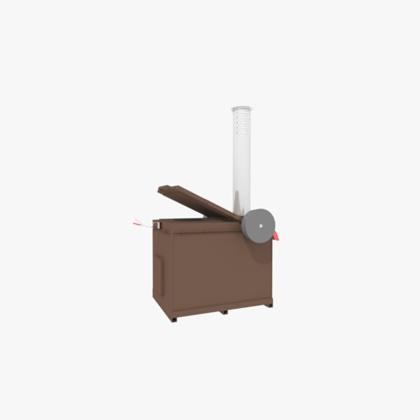 waste incineration 3d model