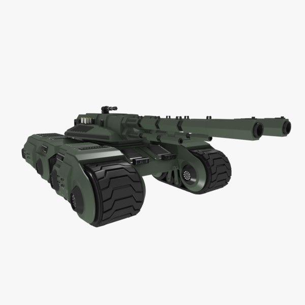 futuristic sci-fi battle tank 3d dxf