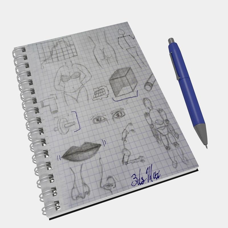 3dsmax notebook pen