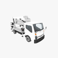 3d model nissan cabstar pickup trucks