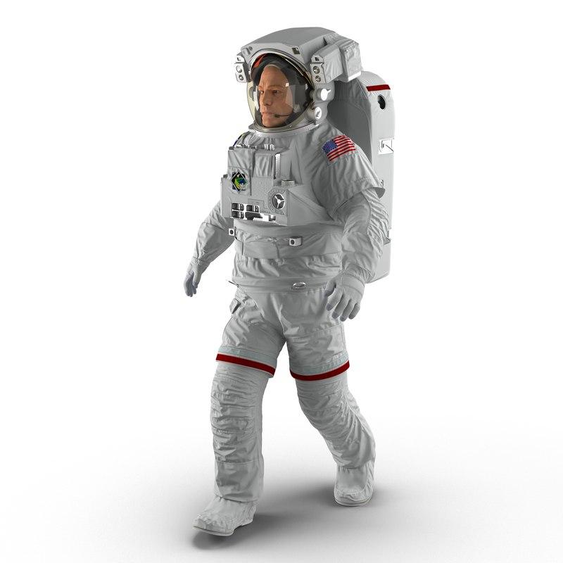 astronaut nasa extravehicular mobility 3d model