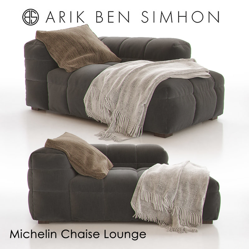 3d michelin chaise lounge arik