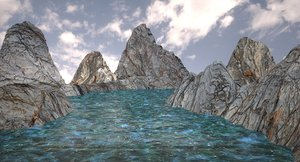 3d c4d landscape v-ray