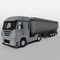 3d model tipping trailer