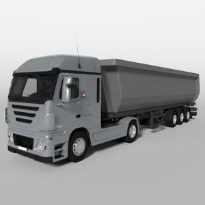 3d obj dump truck v2