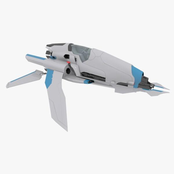 3ds concept space ship