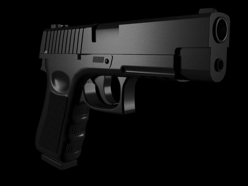 3d gun handgun model
