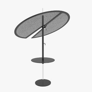 3d model samoa nenufar parasol