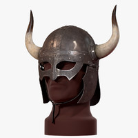 Viking Horned Helmed (V-Ray)